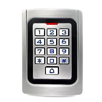 Retekess K10EM-W Control de Acceso Teclado Acceso Puerta Teclado Retroiluminado Numérico IP68 Código PIN 125KHz RFID Tarjeta Wiegand 26 para Tienda ...