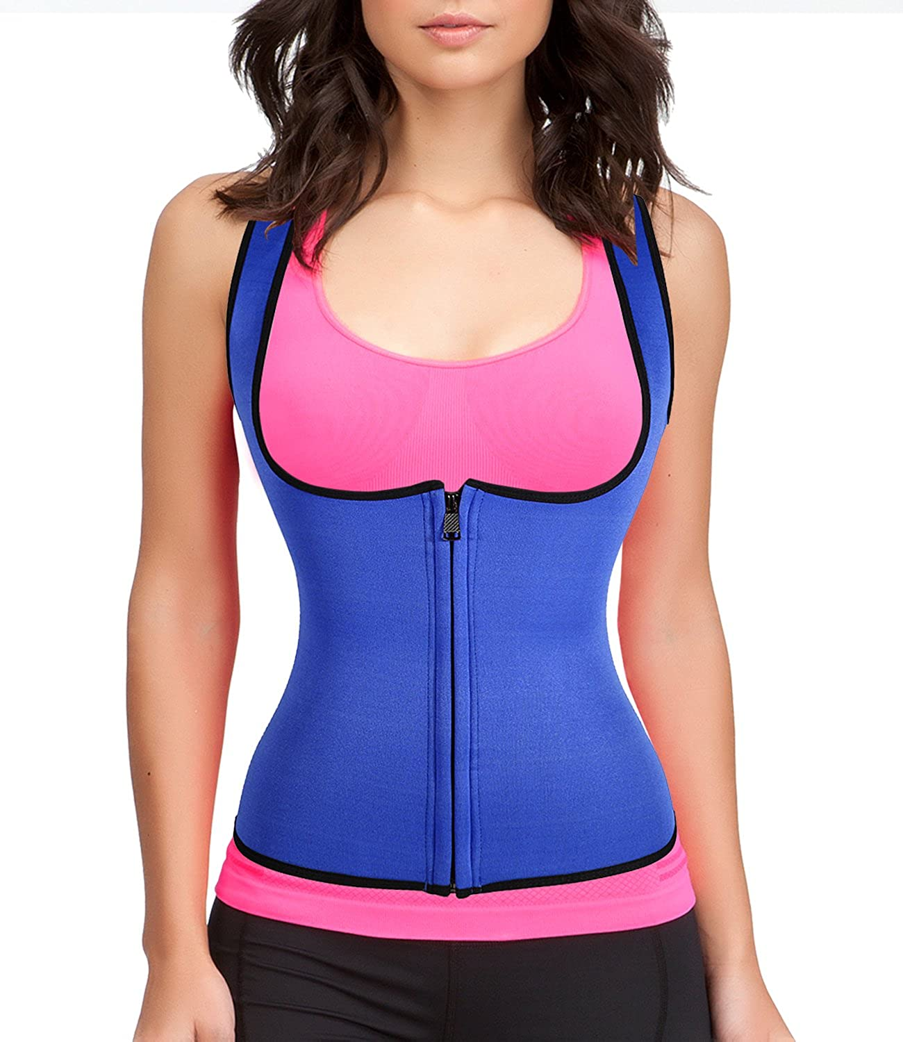 Junlan Slimming Neoprene Vest Hot Sweat Shirt Body Shapers for Smooth Muffin Top