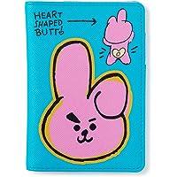 BT21 Official Merchandise by Line Friends - Character Doodling Passport Case, Blue (Blue) - 8809648342310