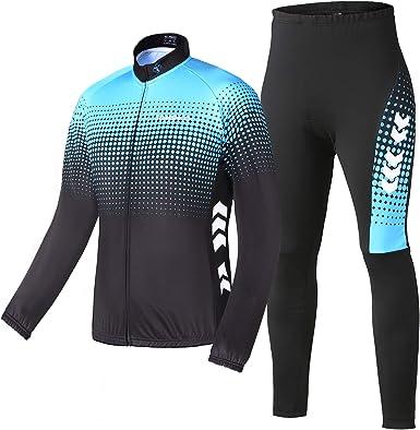 TOMSHOO Men's Cycling Jacket Set Cycling Clothing Set Cycling Jersey Long  Sleeve Windproof MTB Jacket Cycling Jacket Thermal Fleece: Amazon.co.uk:  Clothing
