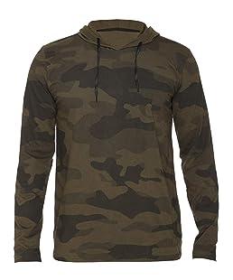 SHAUN Men's Hooded T-Shirt (134mh1_a42_Dark Green_Large)