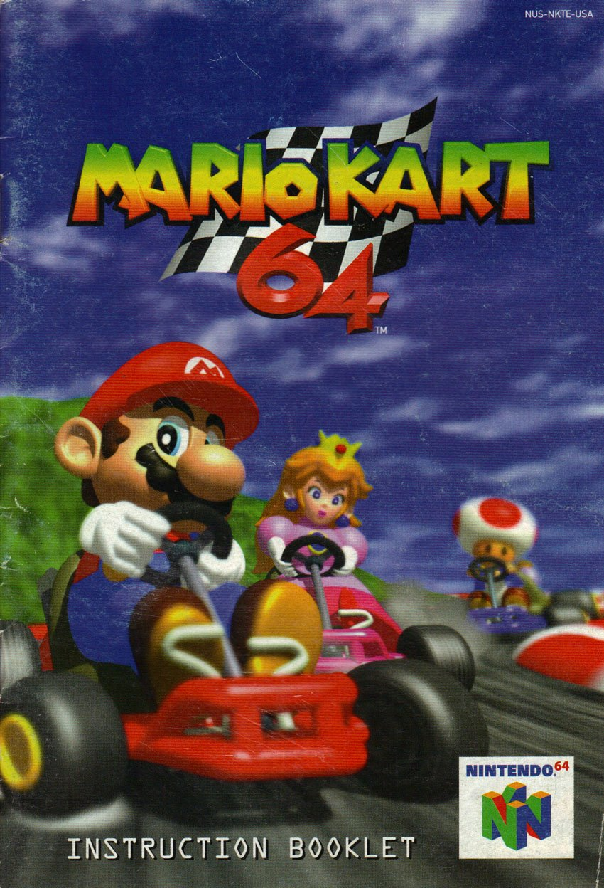 Mario Kart 64 N64 Instruction Booklet Nintendo 64 Manual Only