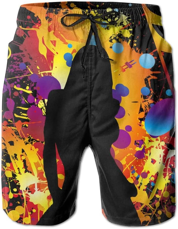 Jadetian Tree Under Starry Sky Mens Beachwear Quick Dry Swim Trunk Beach Shorts Board Shorts Casual Swimsuit