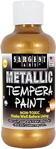 Sargent Art 17-5010 8 oz Aztec Gold Metallic Tempera Paint