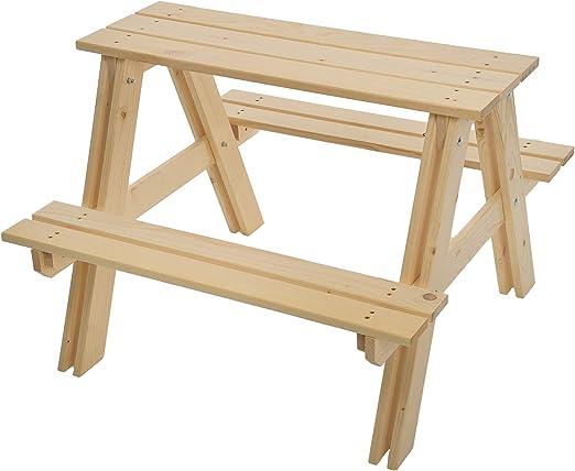 GASPO Mesa y bancos de picnic para niños | Conjunto de mesa y ...