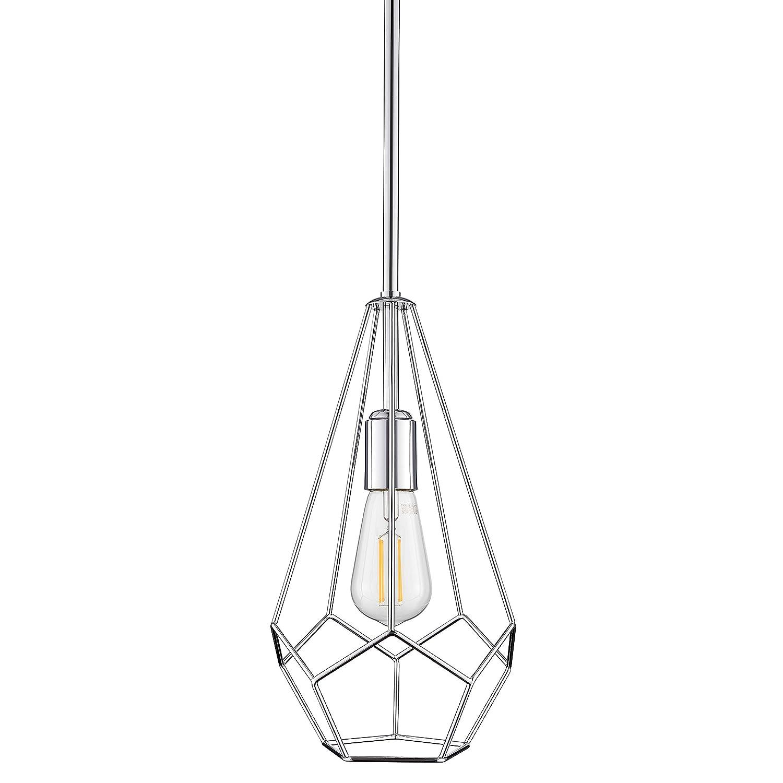Aliria Pendant Light | Chrome Pendant Lighting for Kitchen Island with LED Bulb LL-P635-2PC