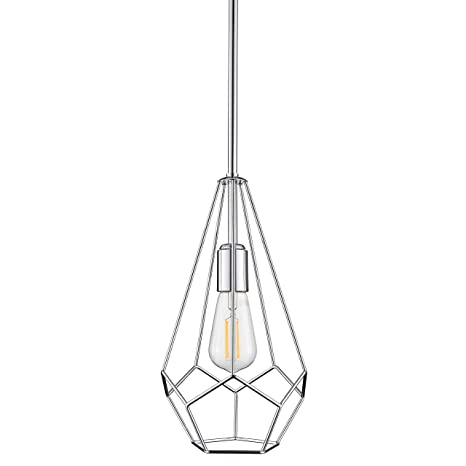 Aliria Pendant Light Chrome Pendant Lighting For Kitchen Island With Led Bulb Ll P635 2pc