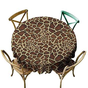 Amazon.com: Paño de mesa redondo de cangrejo Zambia, folk ...