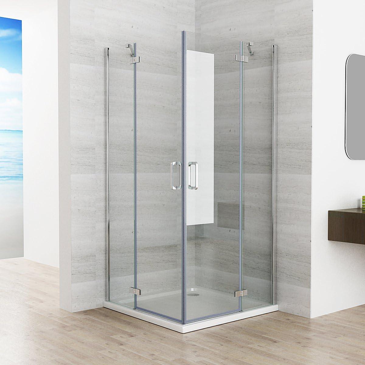 90 x 90 x 195 cm cabinas de ducha esquina. Ducha Bisagra Puerta Puerta de ducha Mampara de vidrio de Nano jaf: Amazon.es: Bricolaje y herramientas