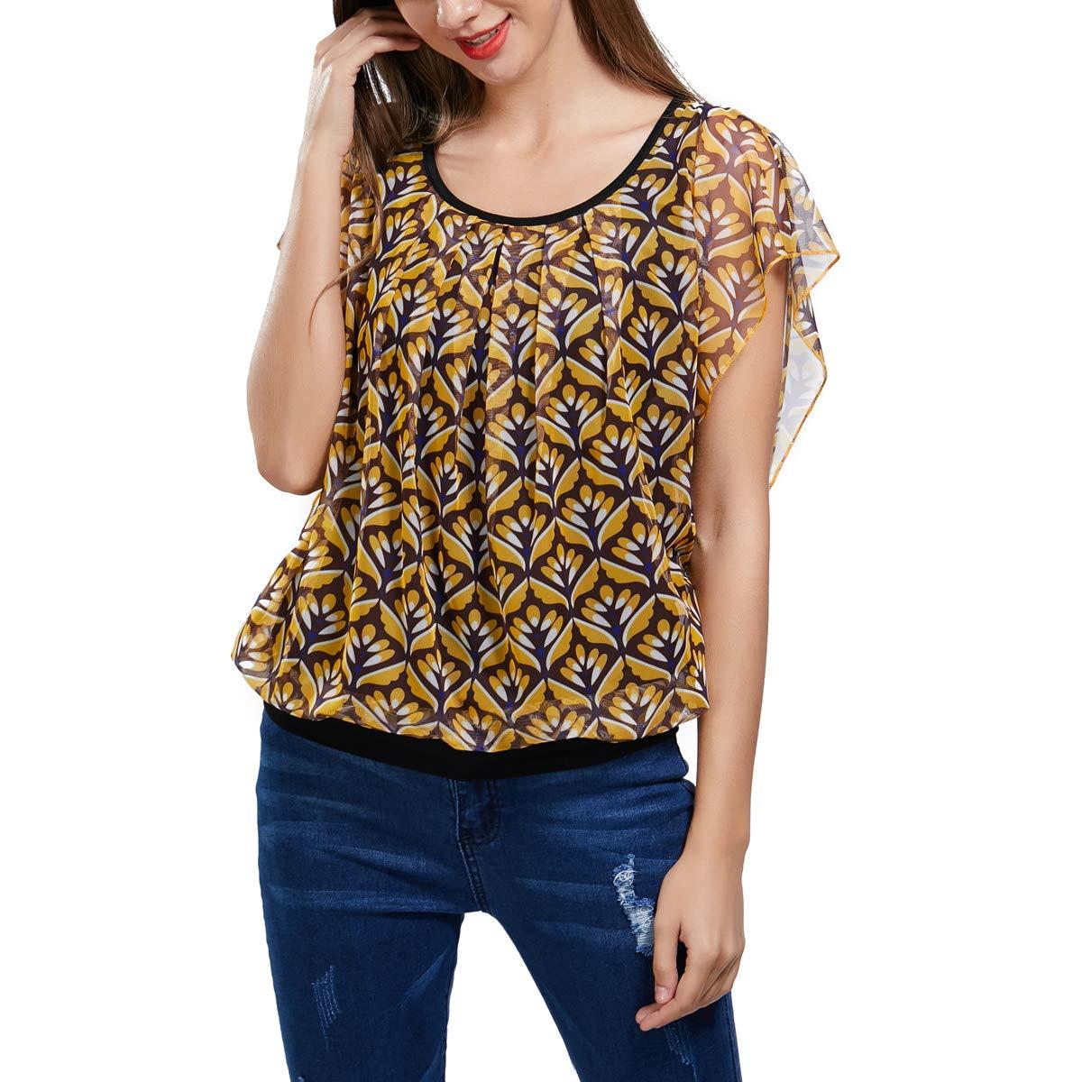 Naladoo Summer Women O-Neck Tops Casual Short Sleeve Cotton T-Shirt Short Blouse