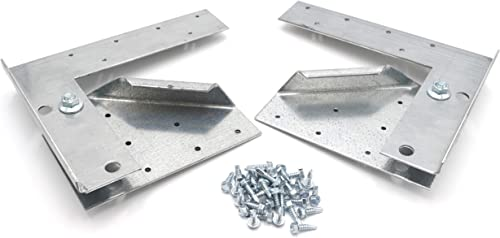 Hinge Kit for Restaurant Canopy Hood Exhaust Fan Used on Fans with wheels 20 or smaller or Fans with bases of 28 or smaller
