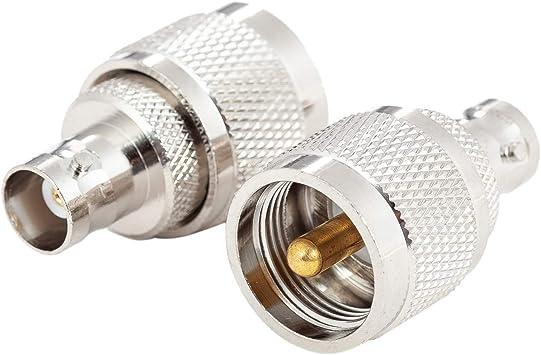 PL259 - Juego de 2 adaptadores de Conector UHF a Conector BNC ...