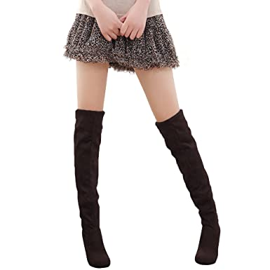 Amazon.com: Zeagoo New Fashion Women Thigh Over Knee Stretchy