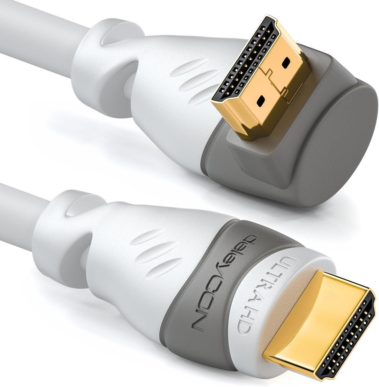 Deleycon HDMI Kabel 0,5M 2.0//1.4a Kompatibel 3D 4K Ultra Hd