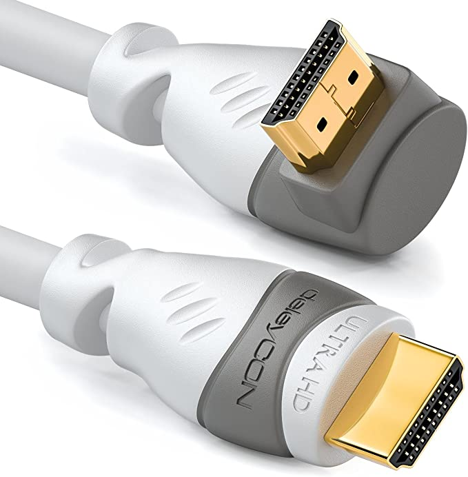 Deleycon 2m Hdmi 270 Grad Winkel Kabel Kompatibel Zu Elektronik