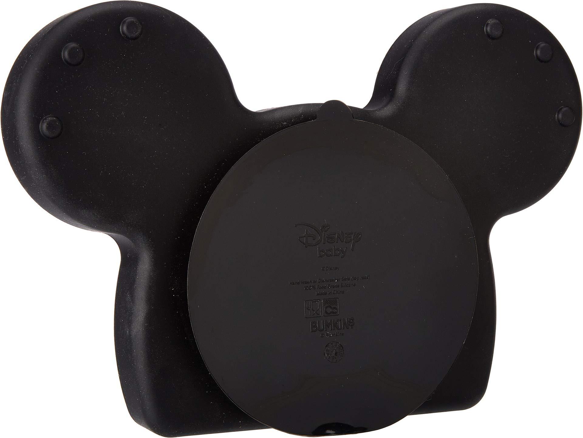 Bumkins Unisex Disney Mickey Silicone Grip Dish w/Bib 2-Pack Mickey One Size