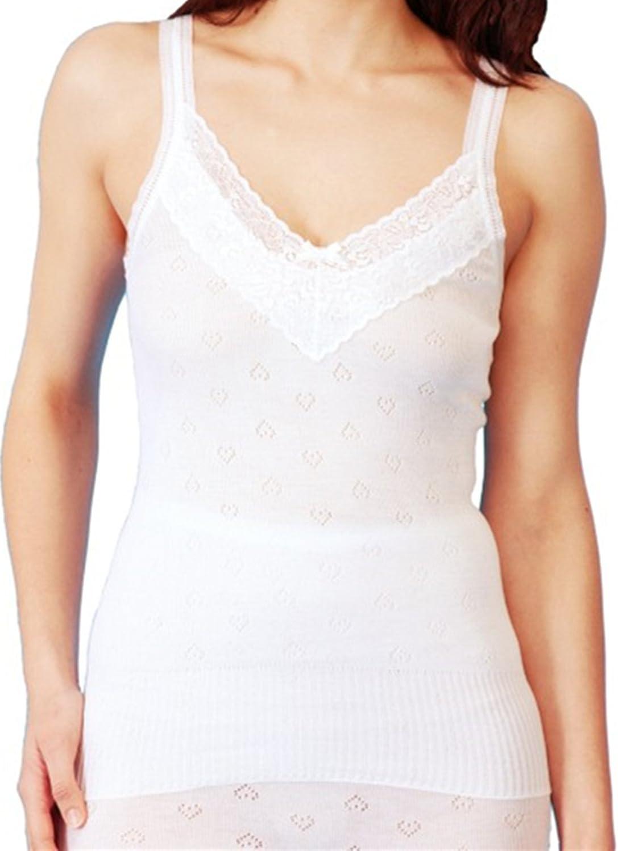 WOMENS WHITE SNOWDROP 100/% COTTON UNDERWEAR FRENCH NECK SPENCER V-NECK LARGE, WHITE