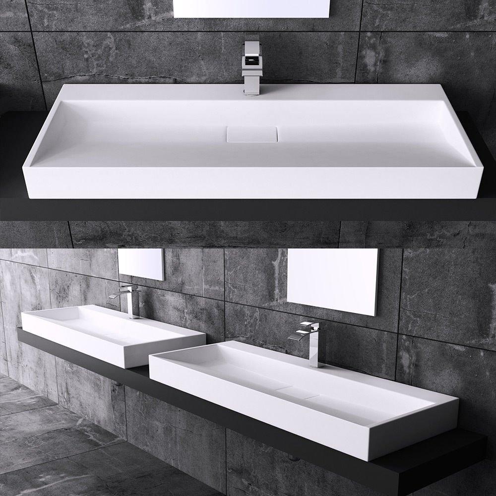 lavabo vasque À poser Évier fonte minérale colossum 19 700: amazon ... - Installer Un Lavabo Salle De Bain