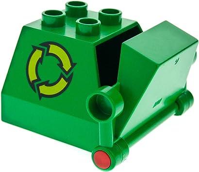 Lego Duplo Müll Container grün für Fahrzeug Auto 025