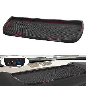 Dashboard Mats Cover Interior Liner Car Dash Rubber Anti-Slip Liner Mats for Dodge Ram Pickup 1500 2500 3500 2011-2018 (Red)