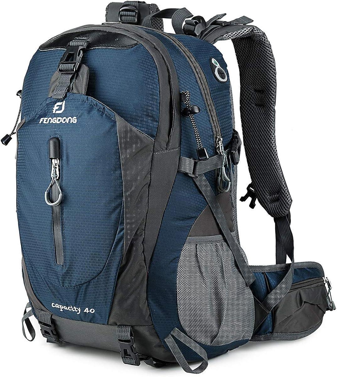 40L Large Waterproof Rucksack Hiking Camping Bag Travel Backpack Outdoor Luggage