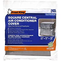 Amazon Com Frost King Cc32xh 34x34x30 Square Central Air Conditioner Cover Heavy Duty Reinforced Polyethylene Home Improvement