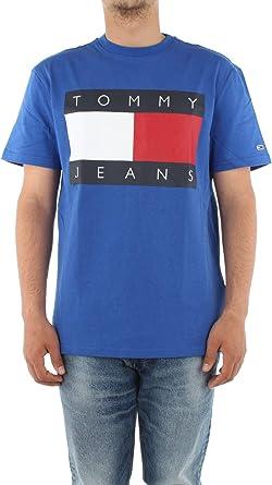 Tommy Jeans DM0DM07009 Flag Tee Camisa y camiseta para hombre: Amazon.es: Ropa y accesorios