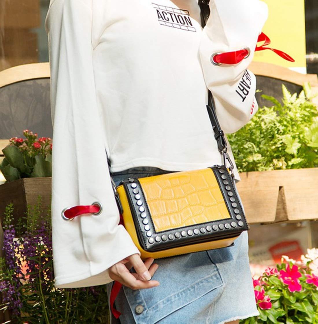Color : Red Carriemeow Casual Liu Ding Small Square Bag Wide Shoulder Strap Shoulder Messenger Bag