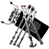 Pinsel Makeup, Chacca 5 pcs Makeup Pinsel Set Harry Potter Zauberstab Fancy Look mit feinen Borsten, Silber Schwarz