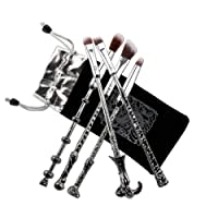 Makeup brush, Chacca 5pcs Makeup Brush Set, Magic Wand Fancy Look with Fine Hair Bristle, Silver Black