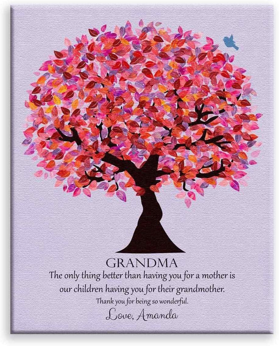 Grandma Gift Grandmother Gift Gifts For Grandma Personalized Gift For Grandmother Birthday Gift For Grandma Grandma Wall Art