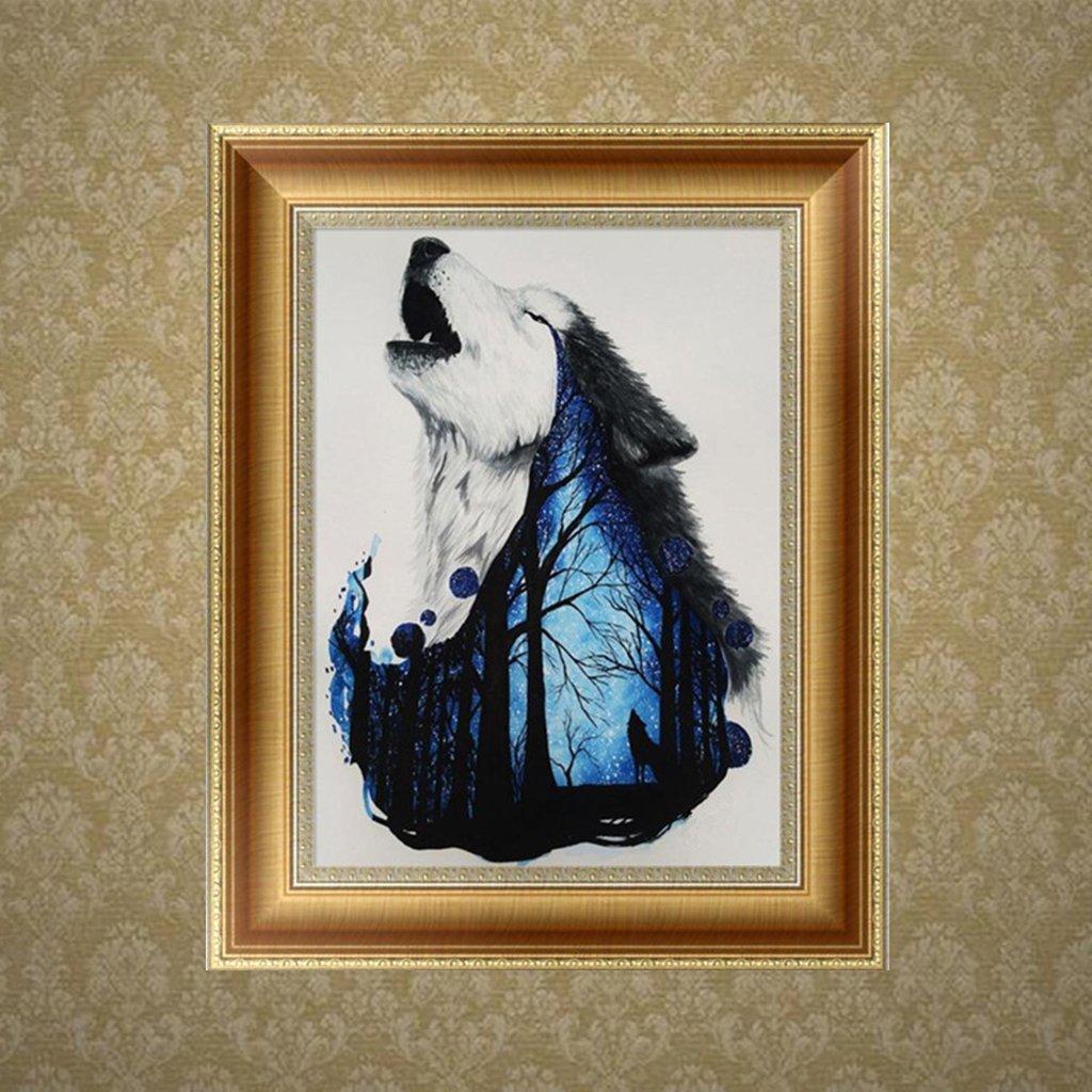 Bettal 5D Diamond Embroidery Wolf Painting Cross Stitch DIY Art Craft Home Decor