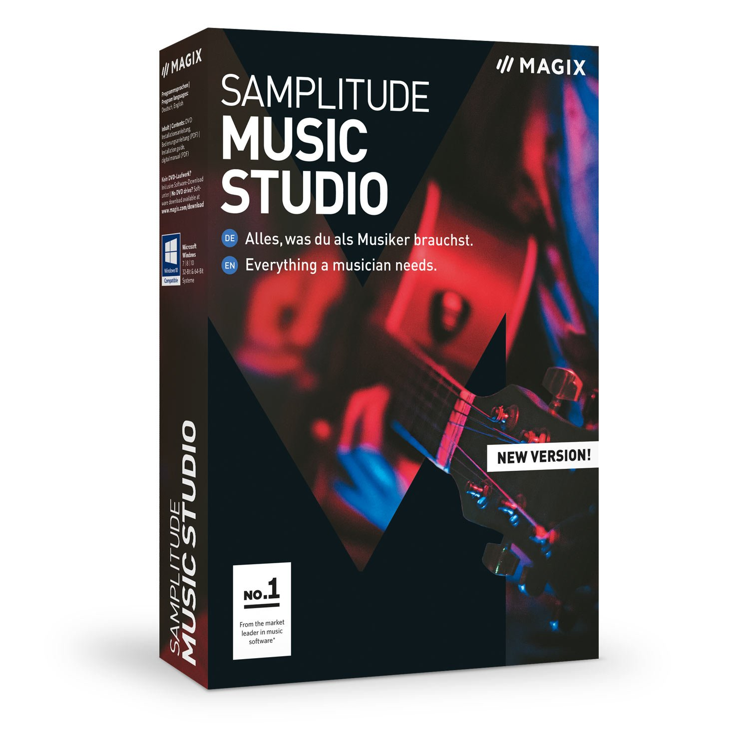 MAGIX Samplitude Music Studio - Version 2019 - the Complete Software Studio For Composing, Recording, Mixing and Mastering by MAGIX