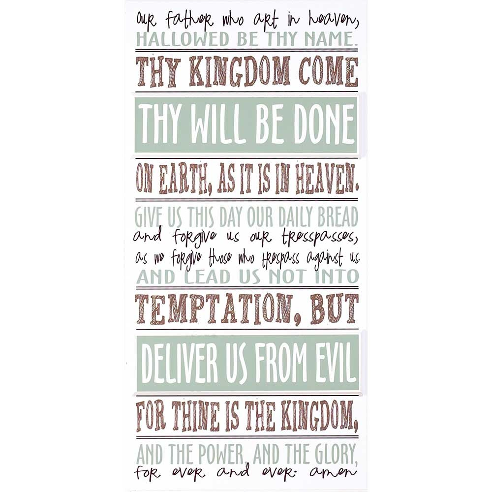 Dicksons The Lords Prayer Pale Blue And Chocolate Brown 10 x 20 Wood Wall Sign Plaque