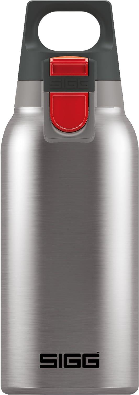 Sigg Hot & Cold One Brushed - Botella térmica (0,3 L, sin sustancias nocivas y aislada, botella térmica de acero inoxidable manejable con una mano)