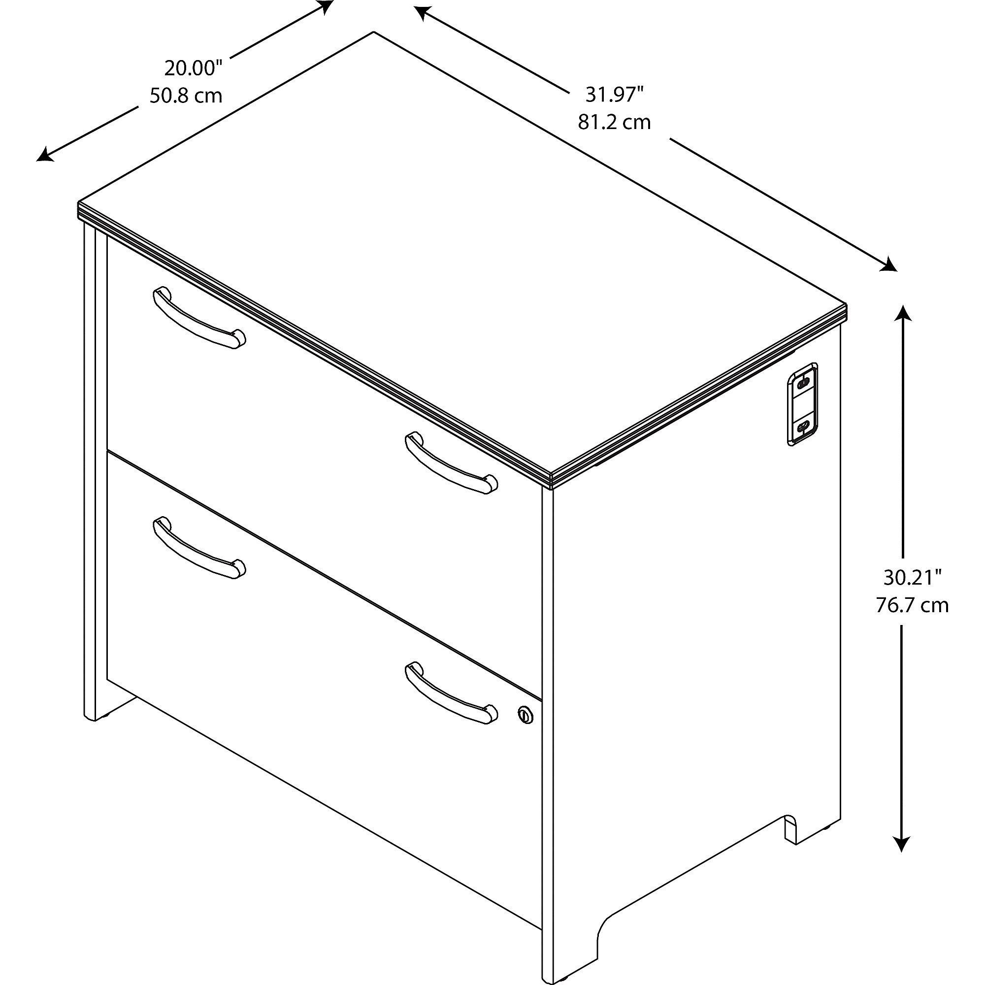 Bush Furniture PR76354 2-Drawer File, Natural Cherry by Bush Furniture (Image #4)