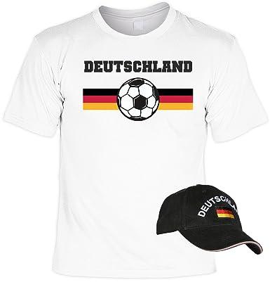 Fussball Fanartikel T-Shirt + Cap EM / WM Deutschland : Deutschland --  Fanpaket T-Shirt + Kappe ( schwarz): Amazon.de: Bekleidung