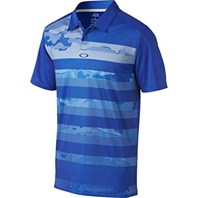 Oakley Mens Lowers Polo Shirt Small Sapphire