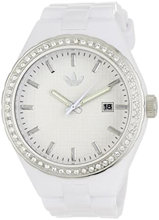 Adidas Womens ADH2123 Cambridge 3-Hand Analog White Glitz Watch
