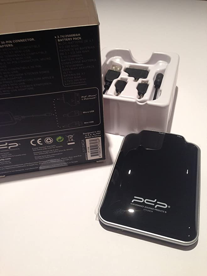 Amazon.com: PDP Mobile universal 2500 mAh Batería Pack ...