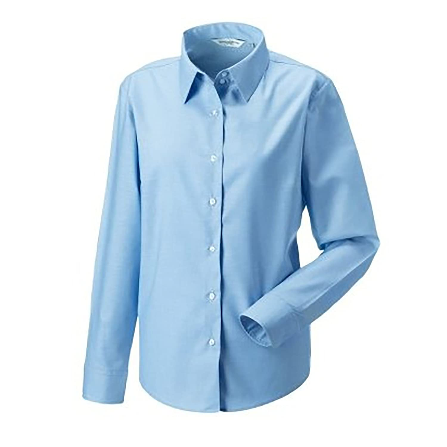 Russell Collection Ladies/Womens Long Sleeve Easy Care Oxford Shirt:  Amazon.co.uk: Clothing