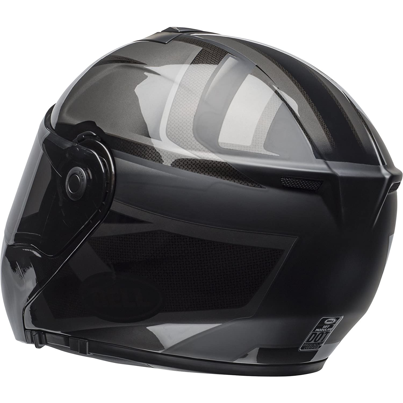 BELL SRT Blackout Flip Front Motorcycle Helmet