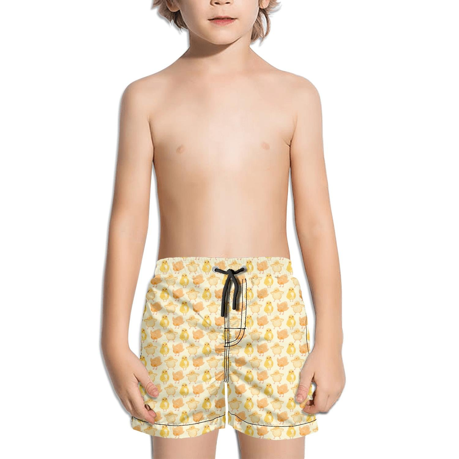 Lenard Hughes Boys Quick Dry Beach Shorts with Pockets Kids Chicks Dig Me Swim Trunks for Summer