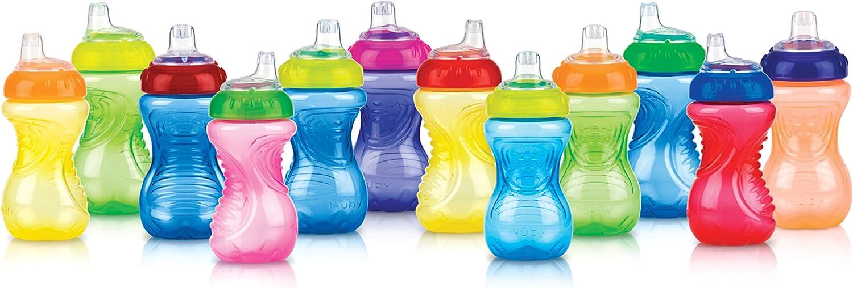 NUBY simplement Grip n Sip bébé Cliquez Dessus /& Bec Non Spill Toddler Formation Tasse 6 M
