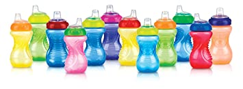 New 10 Ounce Colors May Vary Free Ship Nuby 2-Pack No-Spill Easy Grip Cup