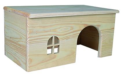 Trixie De Madera Casa Para Conejos 40 X 20 X 23 Cm Amazon Es