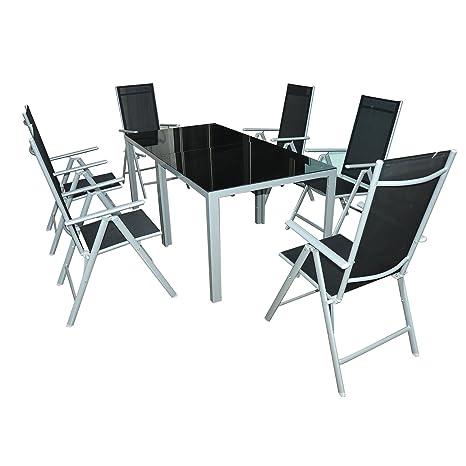 Outsunny - Juego de Muebles de jardín de Aluminio 7pz Juego ...