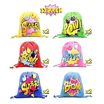 Amazon.com: CiyvoLyeen Superhéroe bolsas de cordón bolsas de ...