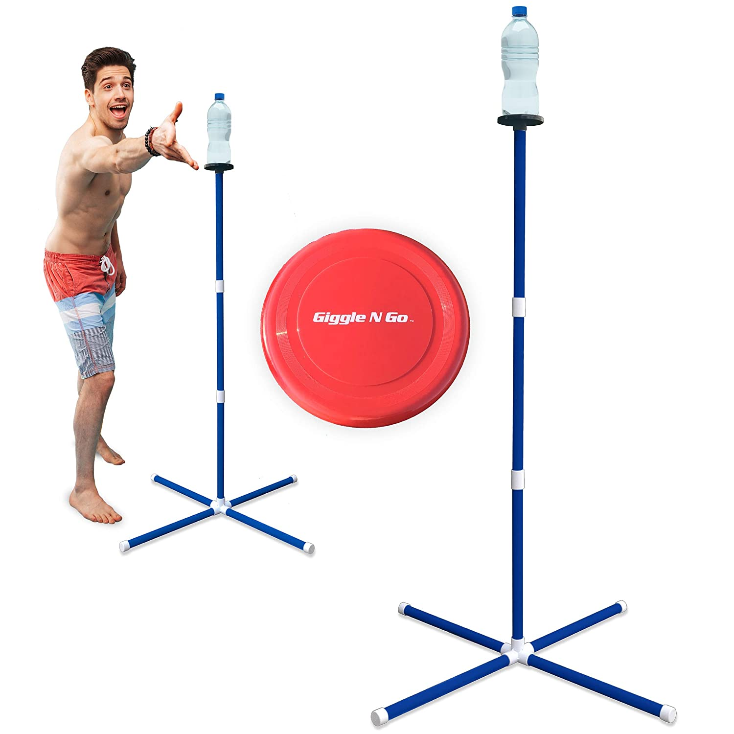 GIGGLE N GO Knock Off Toss Outdoor Games - Yard Games for...