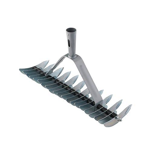 Xclou 341224 Râteau scarificateur de pelouse double denture avec 32 dents galvanisées